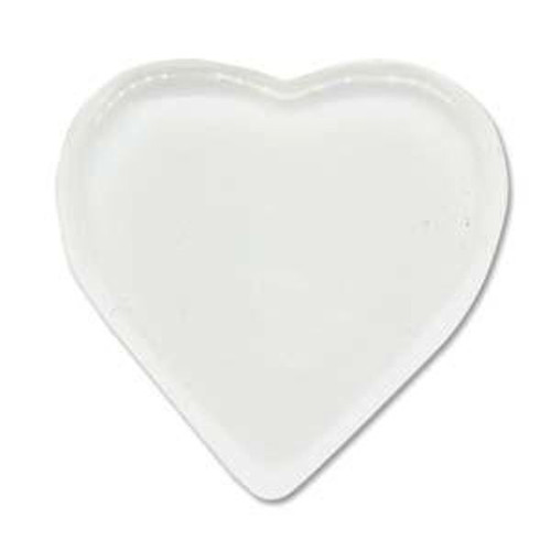 4 BeadSmith HEART Clear Glass Tiles ~ 33x33mm ~ Magnifies Images *