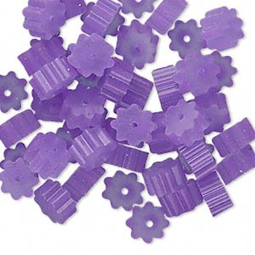 100 Purple 3x1.7mm Ribbed Bead Huggers to Keep Beads in Place! *