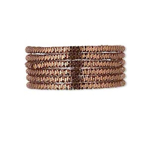 20 Grams Brown Coated Copper 1.5mm Spiral French  Wire ~ Approximately 25 Feet