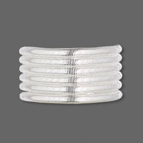 1 Strand Silver Plated Copper Extra Heavy 2.5mm Spiral Tube French  Wire ~ Approximately 25 Feet
