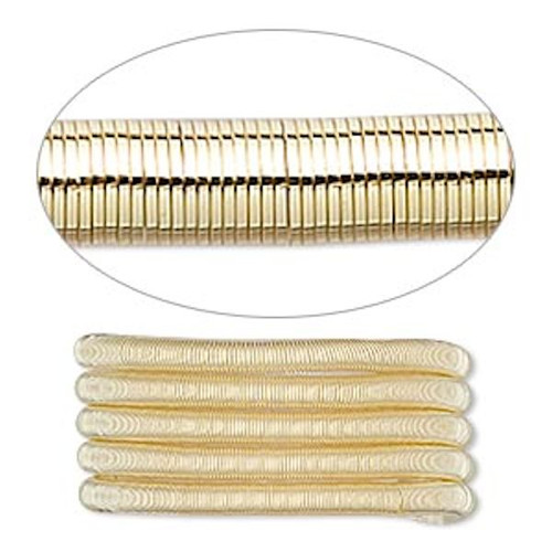 1 Strand Gold Plated Copper Extra Heavy 2.5mm Spiral Tube French  Wire  Approximately 25 Feet `
