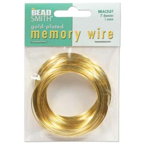 """1 Ounce Gold Plated 2"""" Round Memory Wire Bracelets ~ 70 Loops"""
