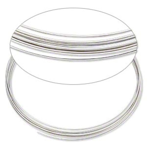 "1 Ounce PKG Stainless Steel Memory Wire 3- 5/8 "" Necklace ~ 30 Loops"