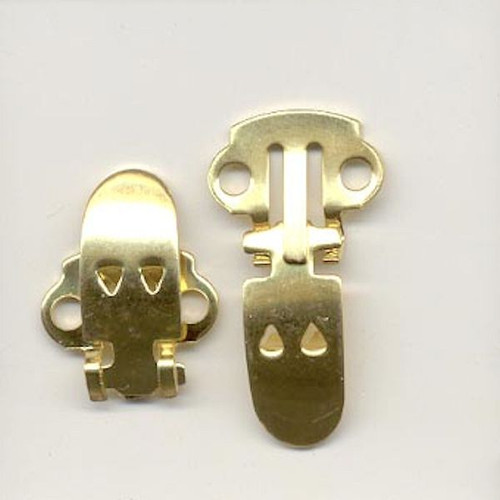 6 Gold Plated Steel Shoe Clips  ~ 18x14x3mm ~ Use like Clip-on Earrings But for Shoes *