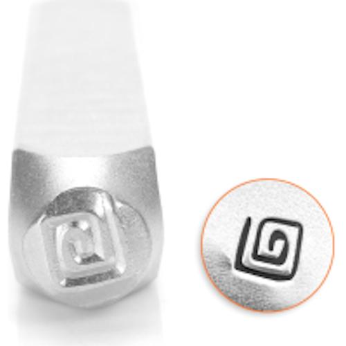 1 ImpressArt Carbon Tool Steel  3mm SQUARE SWIRL Metal Stamp Punch