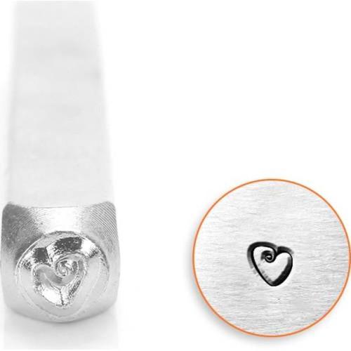 1 ImpressArt Carbon Tool Steel  3mm FAT HEART Metal Stamp Punch