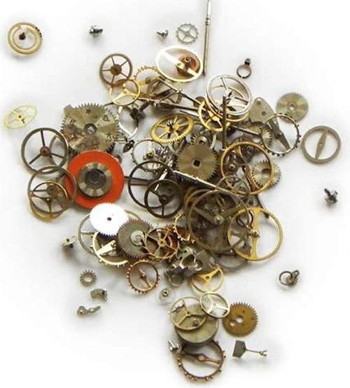 1/2 OZ Micro Elements Watch Parts Components & Mixed Metal Assortment *