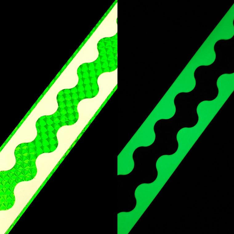 Original Authentic  Green Scale/ Green  Glow Flasher Super Scallop PER FOOT