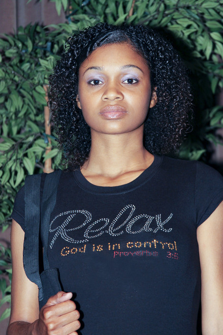 Relax God is in Control Rhinestone Tee