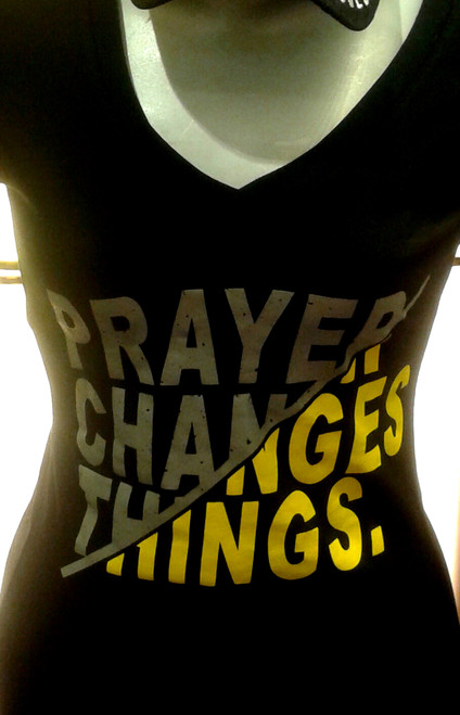 Prayer Changes Things V neck Tee