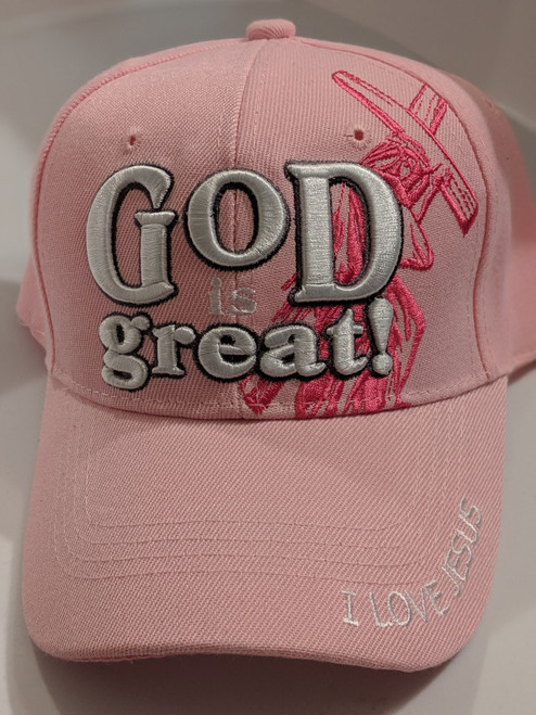 God Is Great Pink Cap