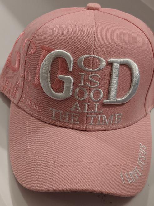 God Is Good Pink Cap