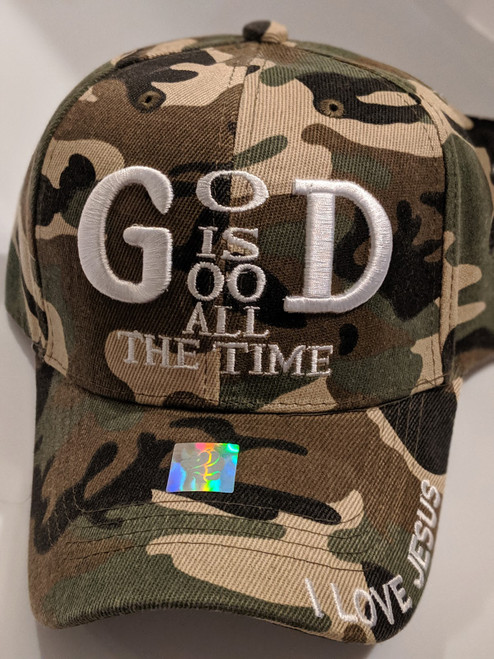 God Is Good Camo Cap