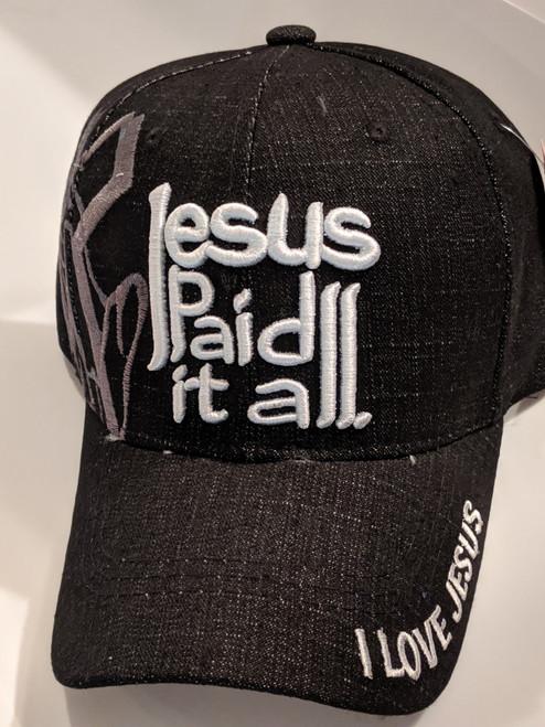 Jesus Paid It All Black Cap
