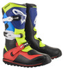 Alpinestars Boots Tech T - Black/Red/Blue/Fluo Yellow