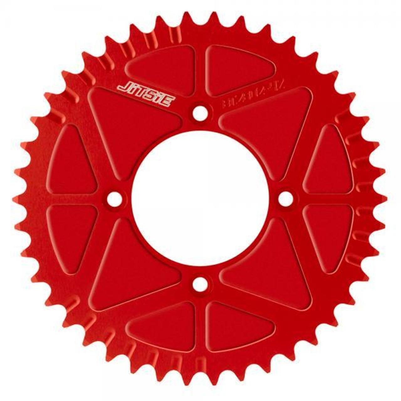 Jitsie solid rear sprocket red