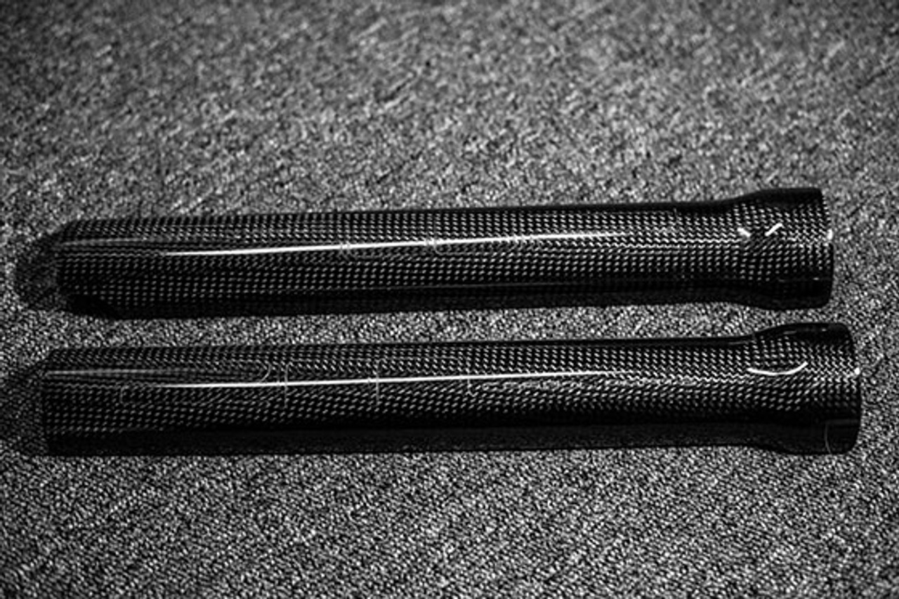 Universal Tech fork sleeve protectors in carbon fiber