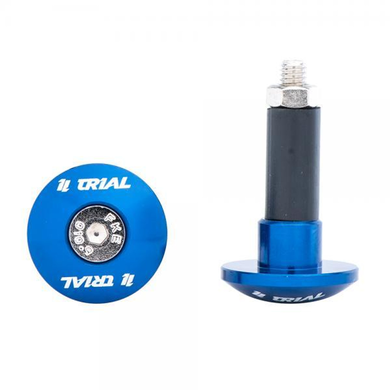 TR1AL Alloy handlebar ends blue