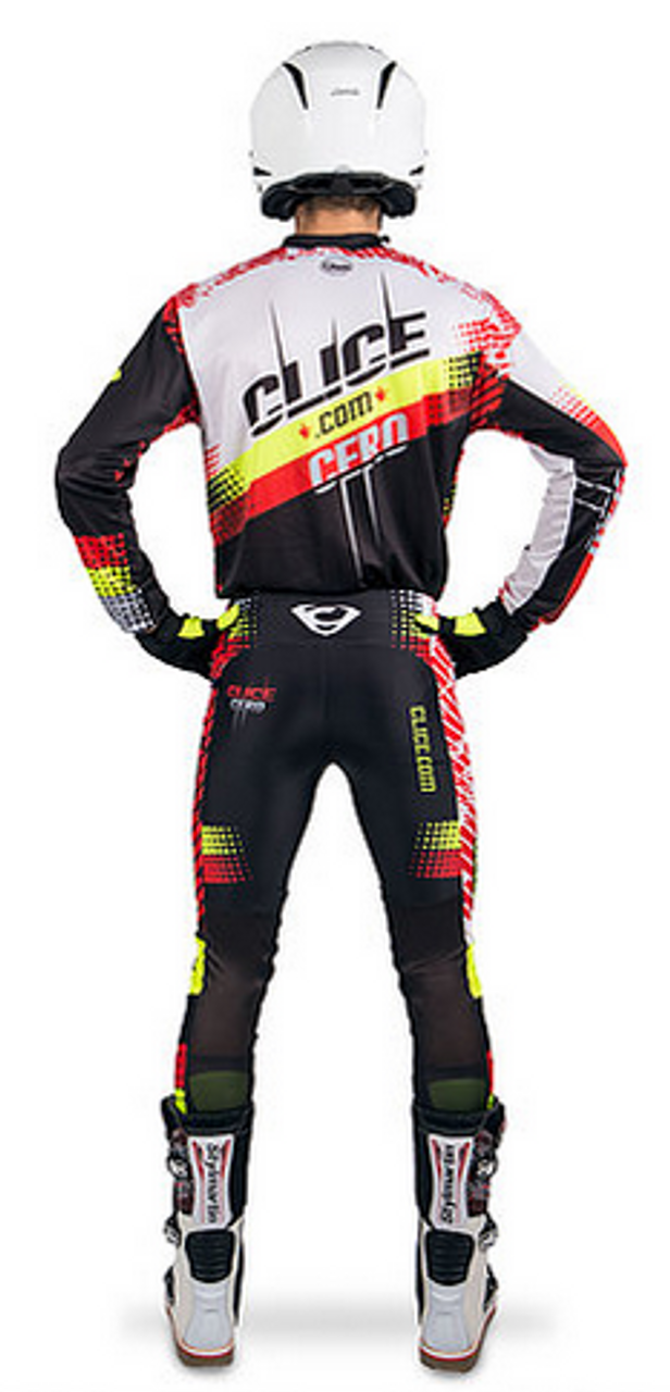 Clice Cero 2018 yellow/red pants & jersey back