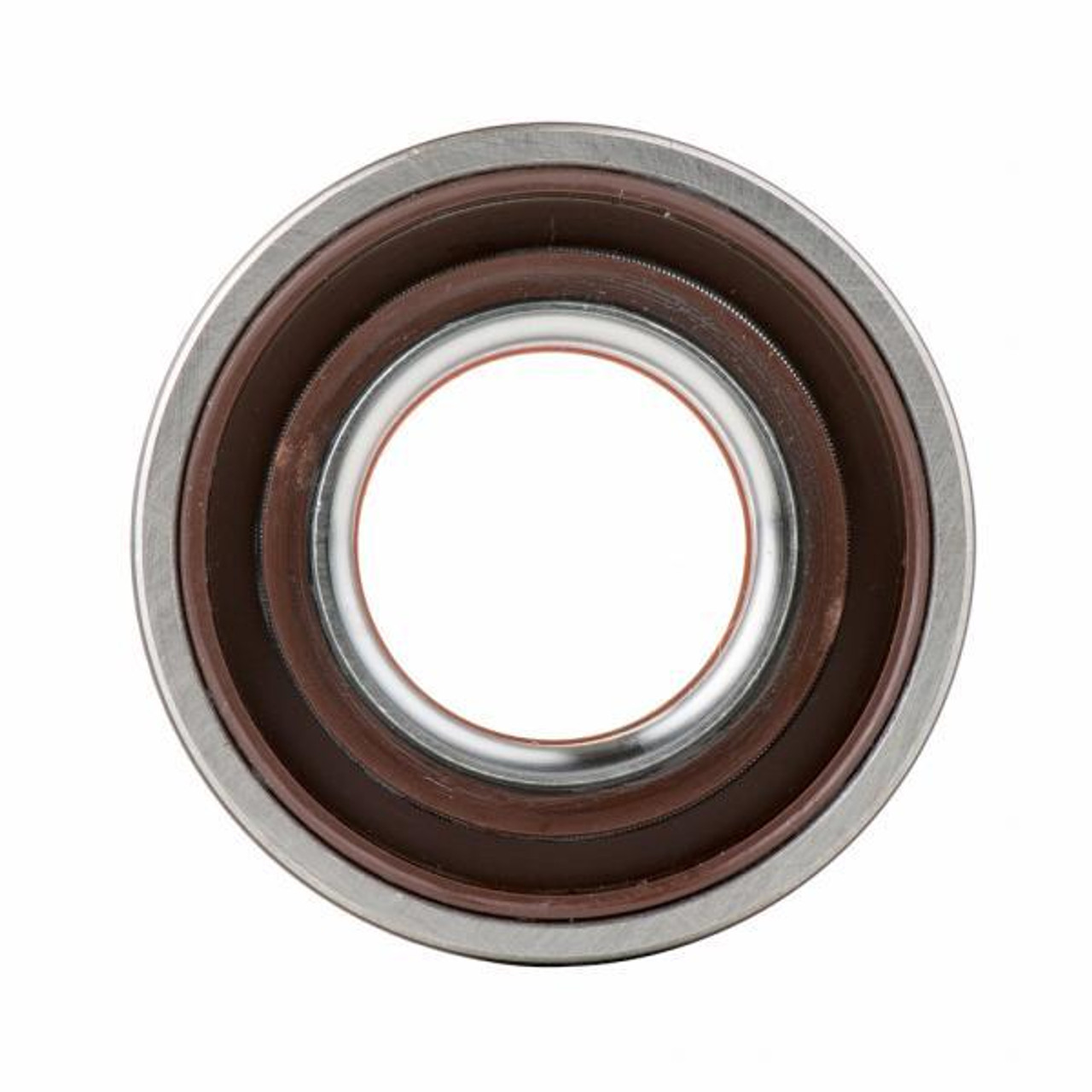Crankshaft bearing with oil seal with PTFE lip, back
