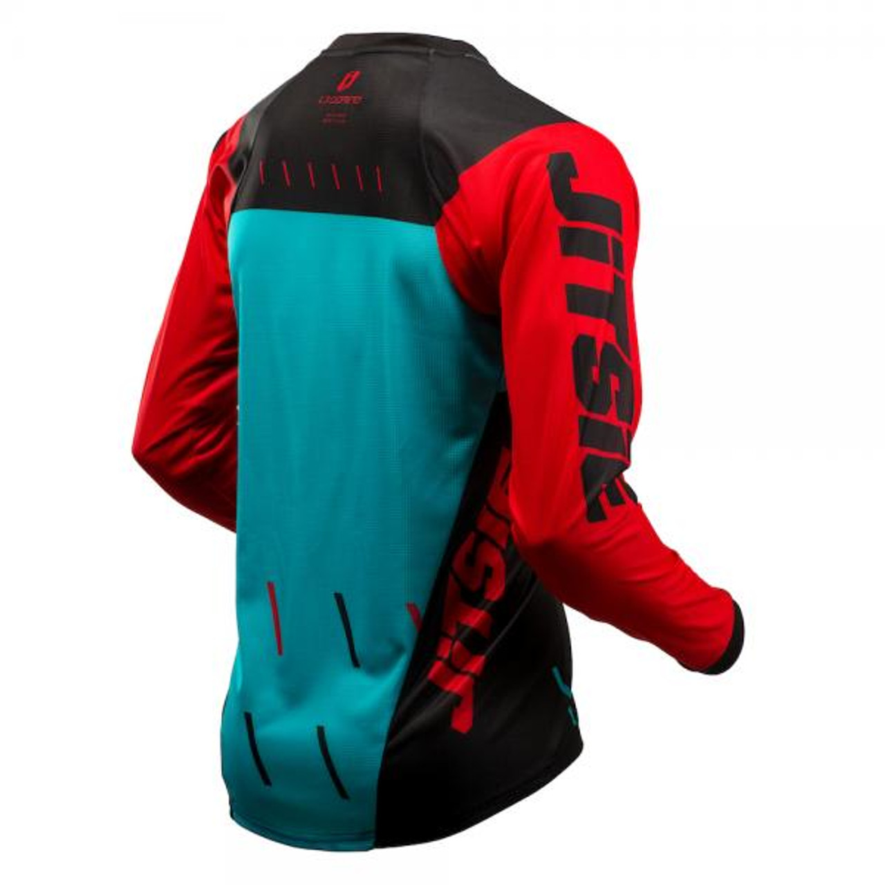 Jersey L3 Domino, black/red/ teal