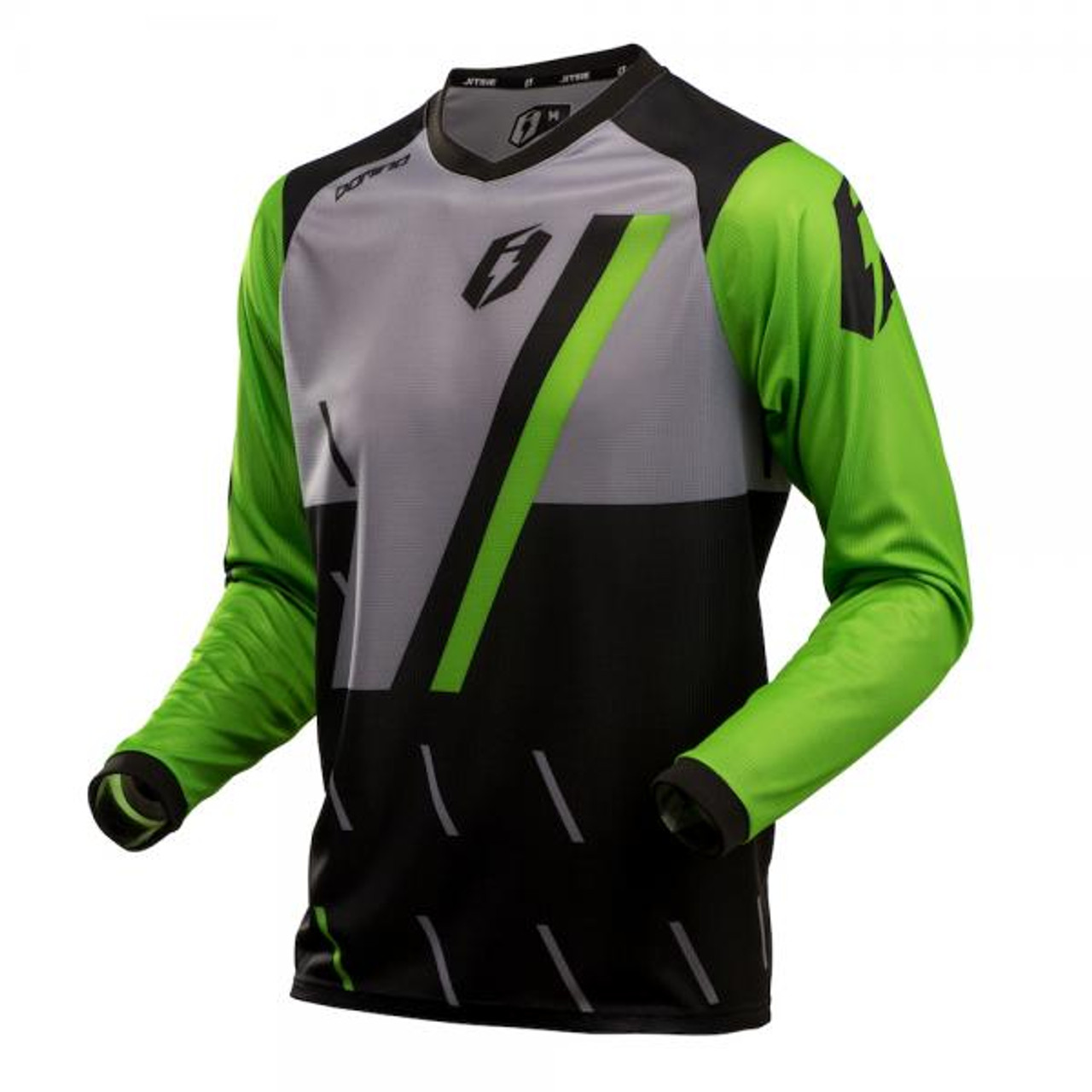 Jersey L3 Domino, black/fluo green/ silver