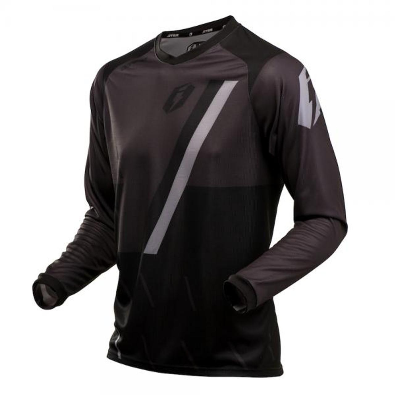 Jersey L3 Domino, black/grey/ silver