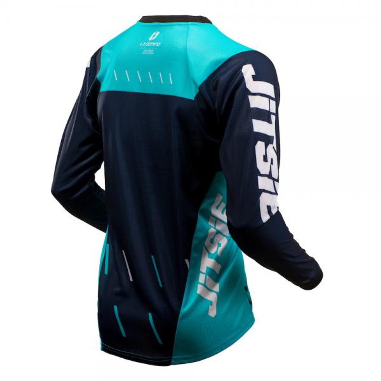 Jersey L3 Domino, navy/ teal/ white