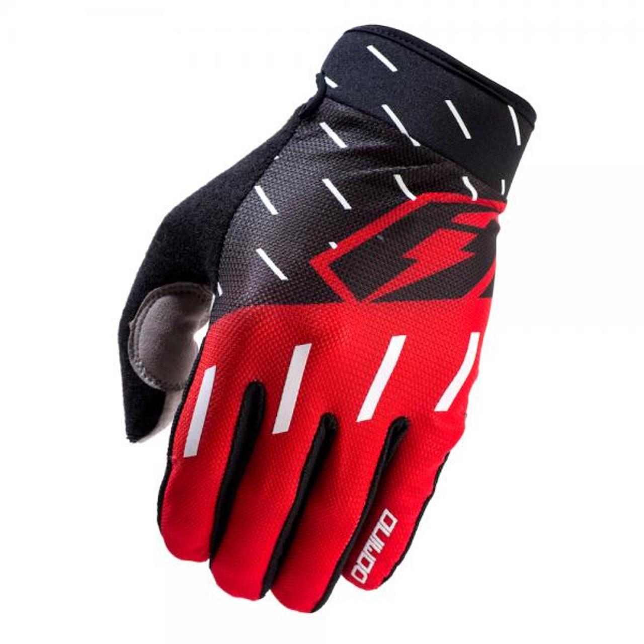 Gloves Domino, black/ red/ white