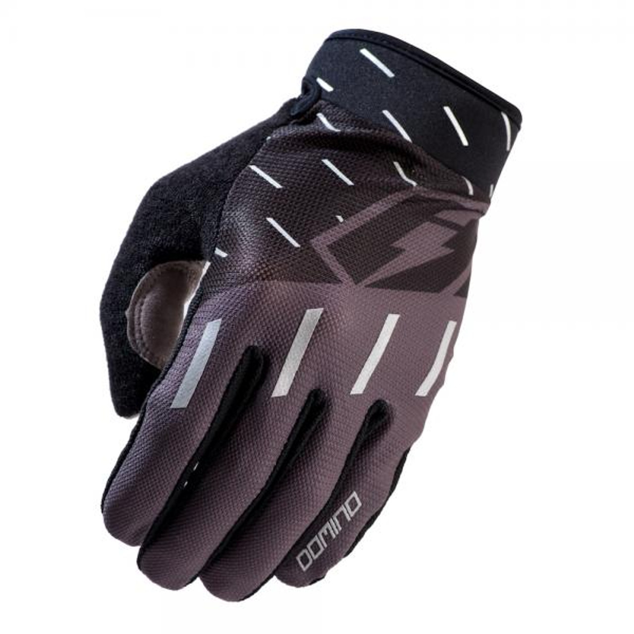Gloves Domino, black/ grey/ silver
