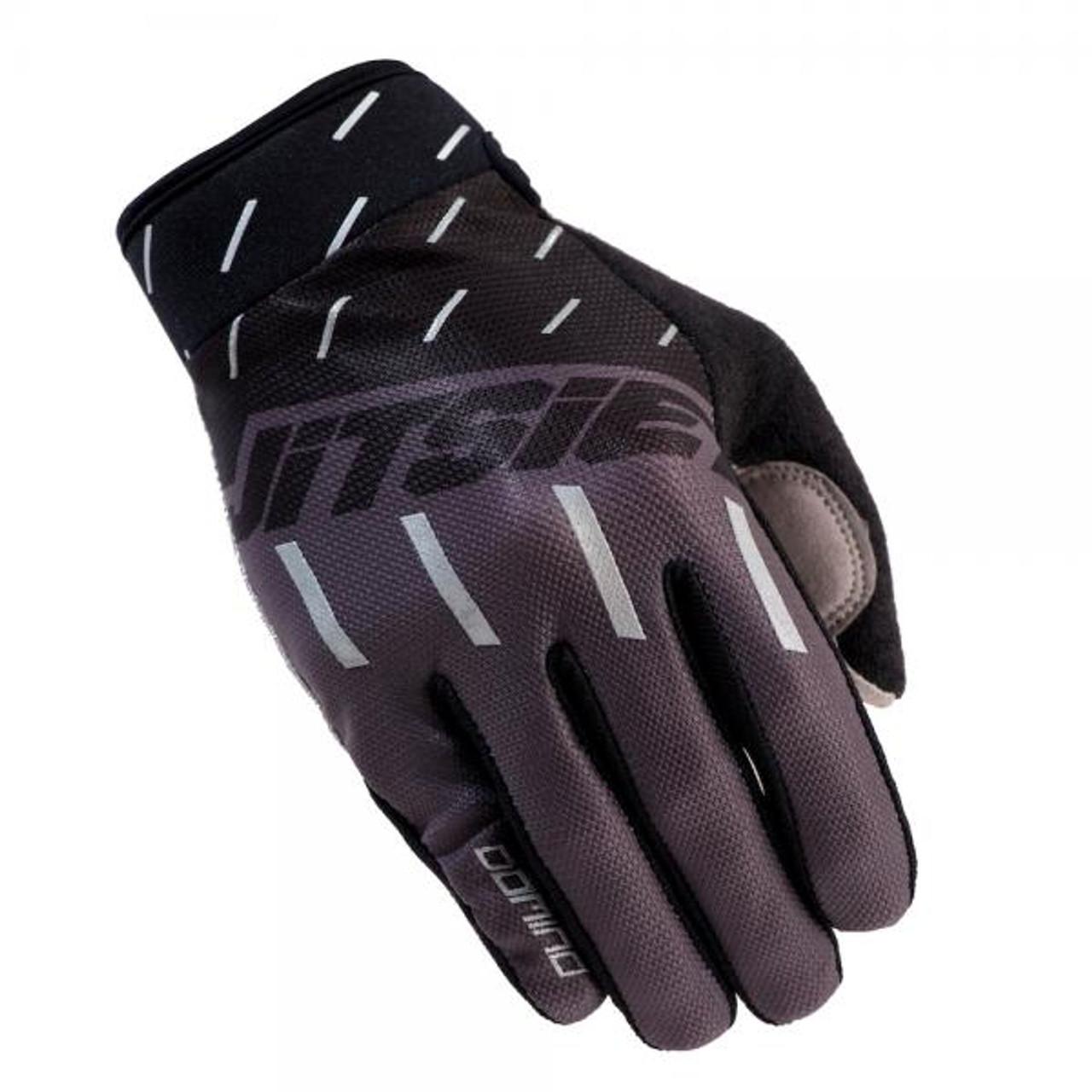 Gloves Domino, black/ grey/ silver