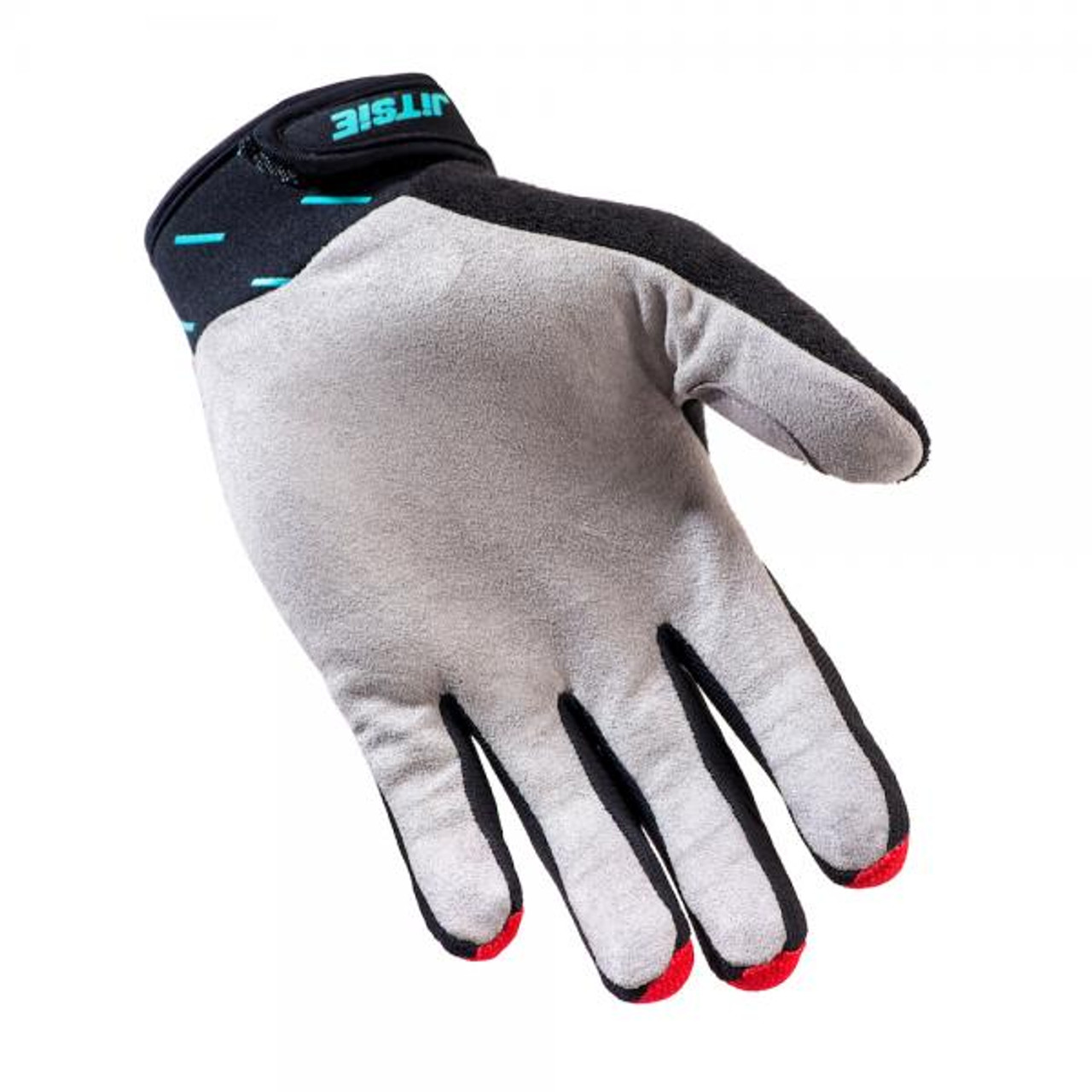 Gloves Domino, black/ red/teal