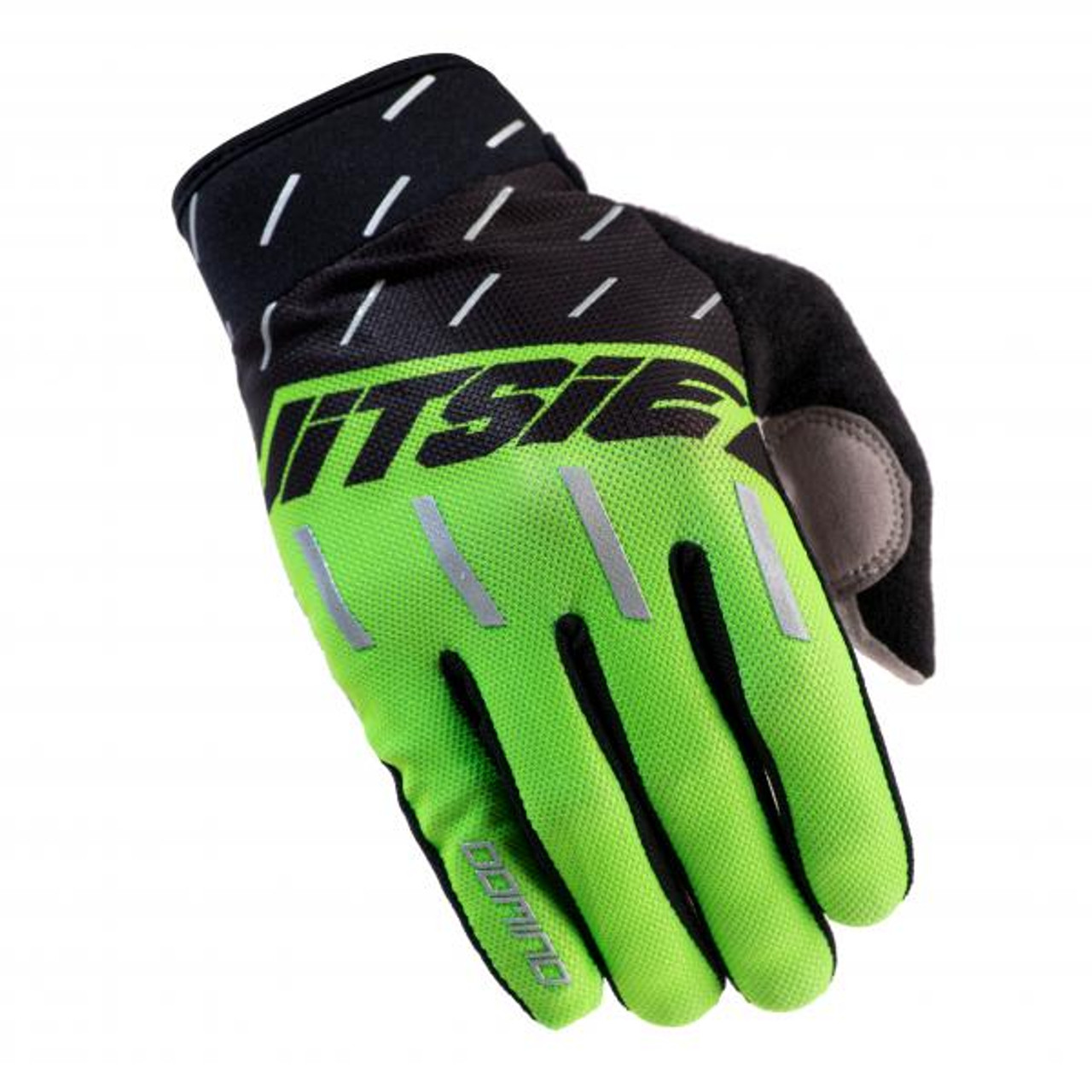 Gloves Domino, black/ fluo green/ silver