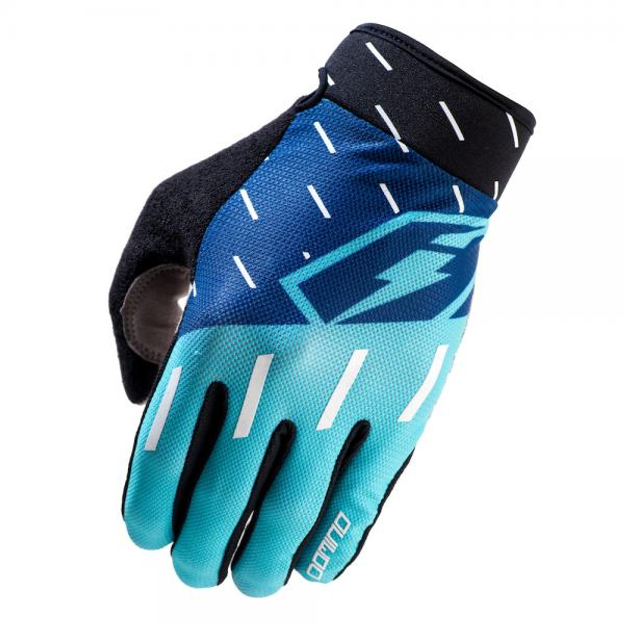 Gloves Domino, navy/ teal/ white