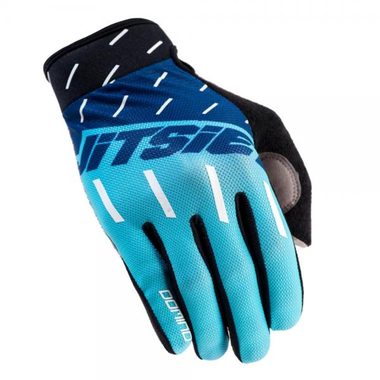 Gloves Domino, navy/ teal/ white