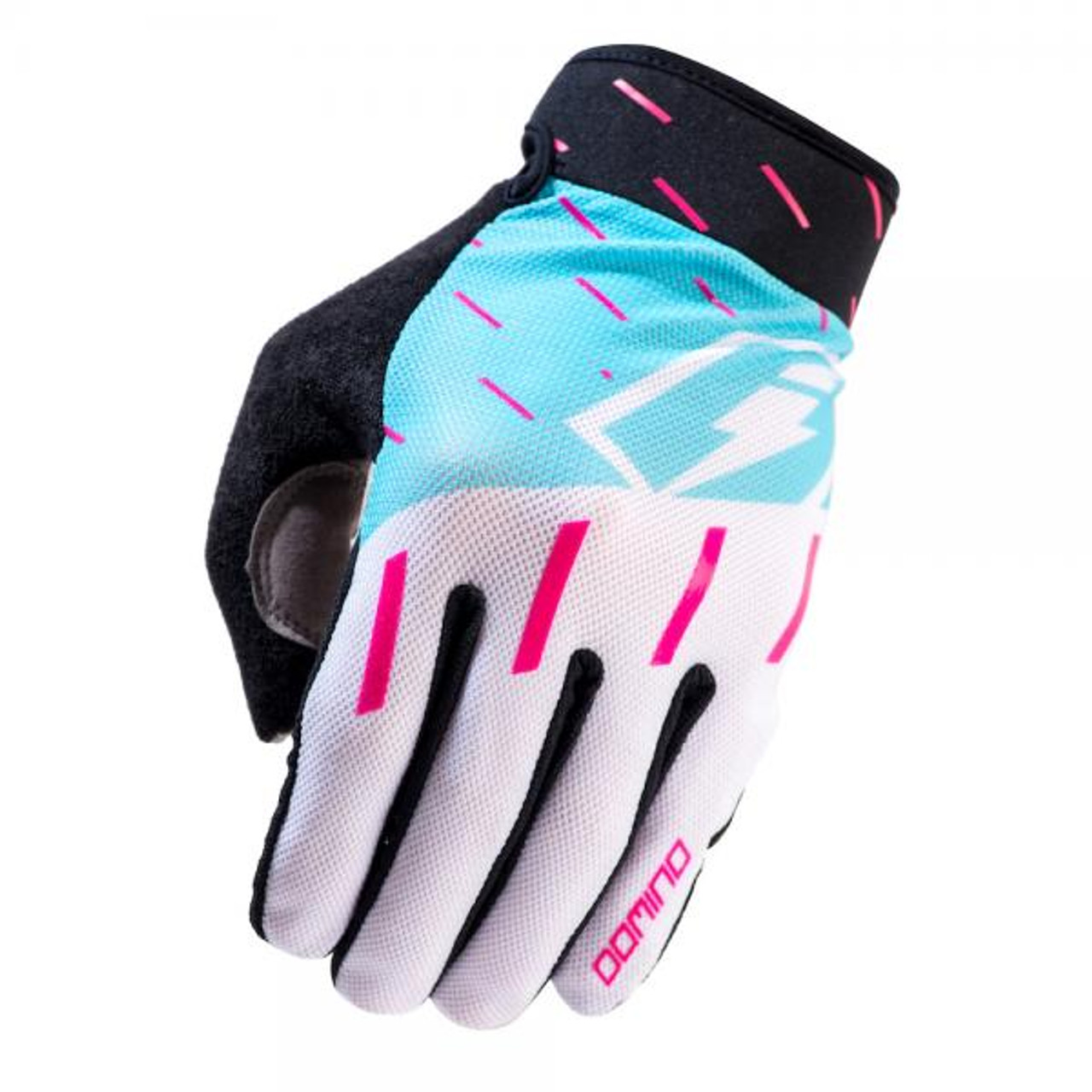 Gloves Domino,white/ teal/ purple