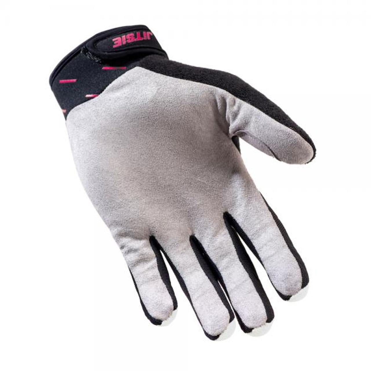 Gloves Domino,white/ teal/ purple