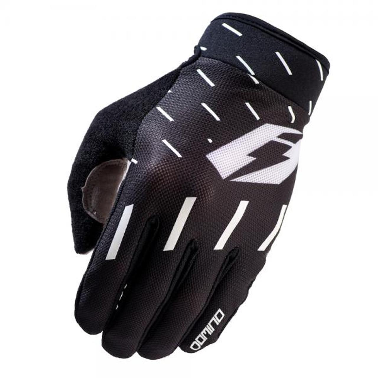 Gloves Domino, black/ white