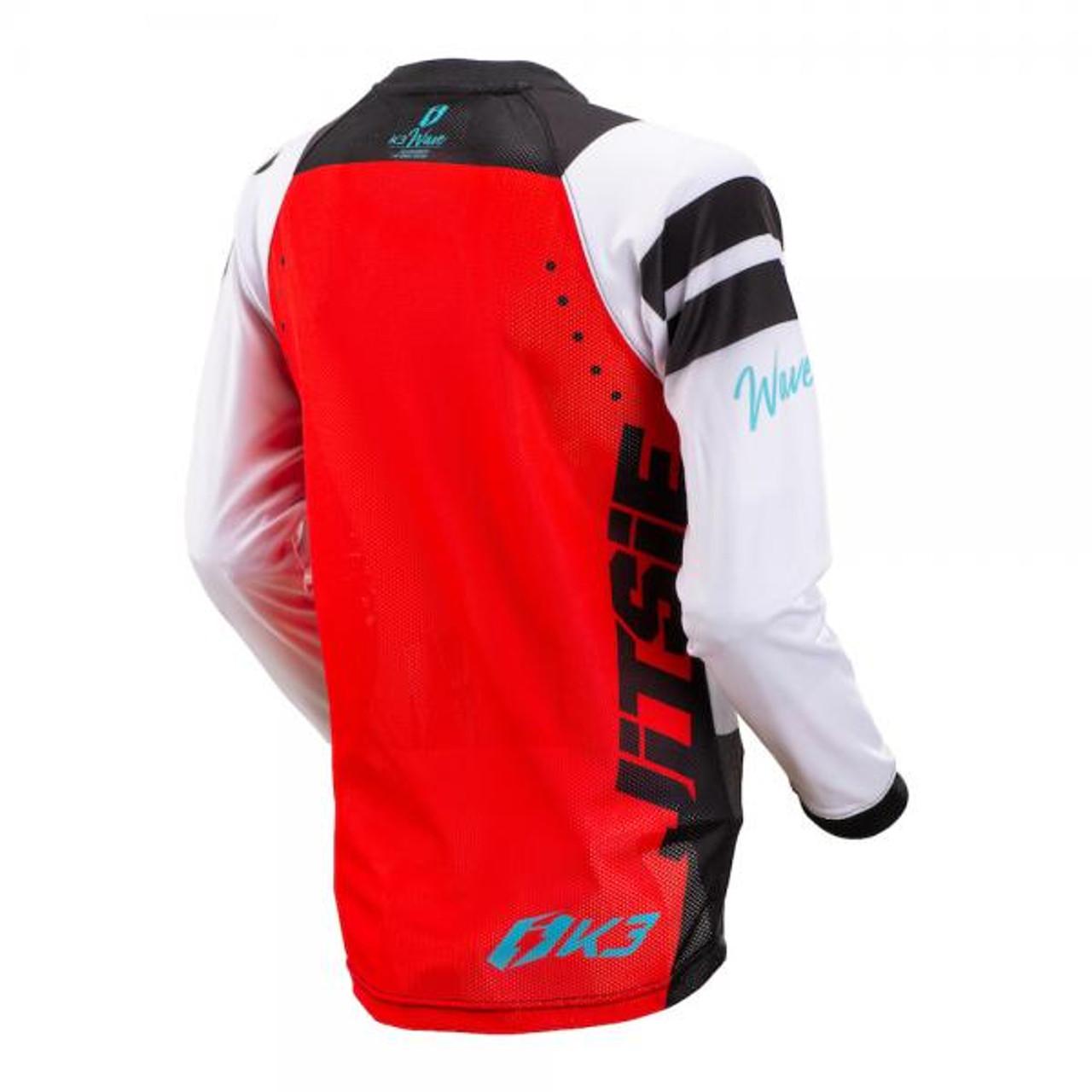 Kid's trials Jersey K3 Wave, black/ red/ teal