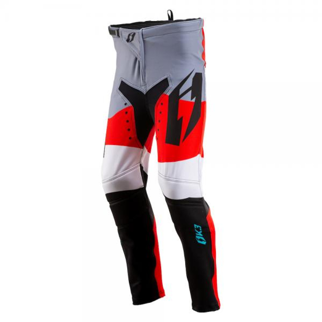 Kid's trials pants K3 Wave, black/ red/ teal