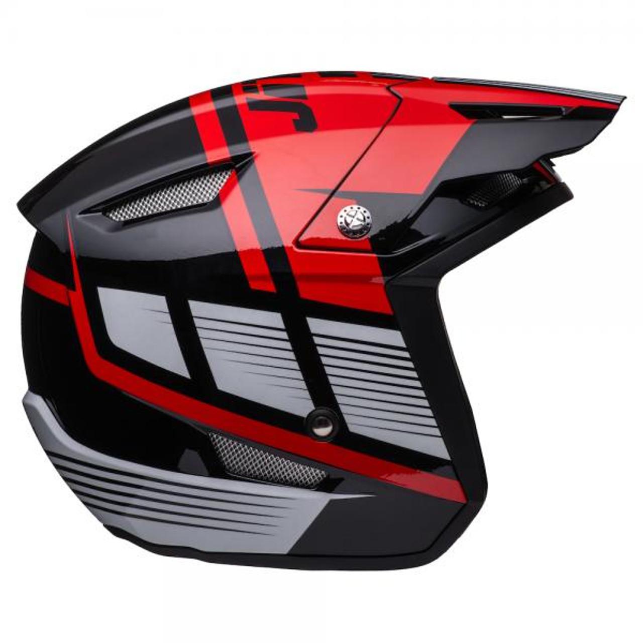 Helmet HT1 Struktur, black/ red/ silver