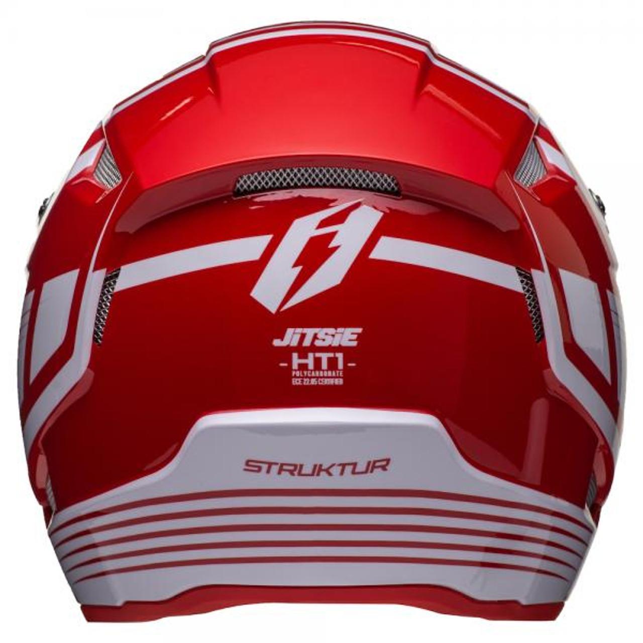 Helmet HT1 Struktur, red/ white