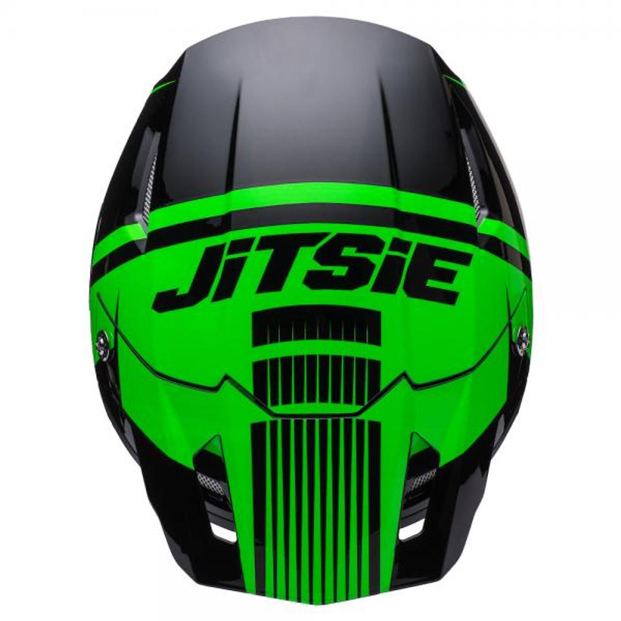 Helmet HT1 Struktur, black/ fluo green