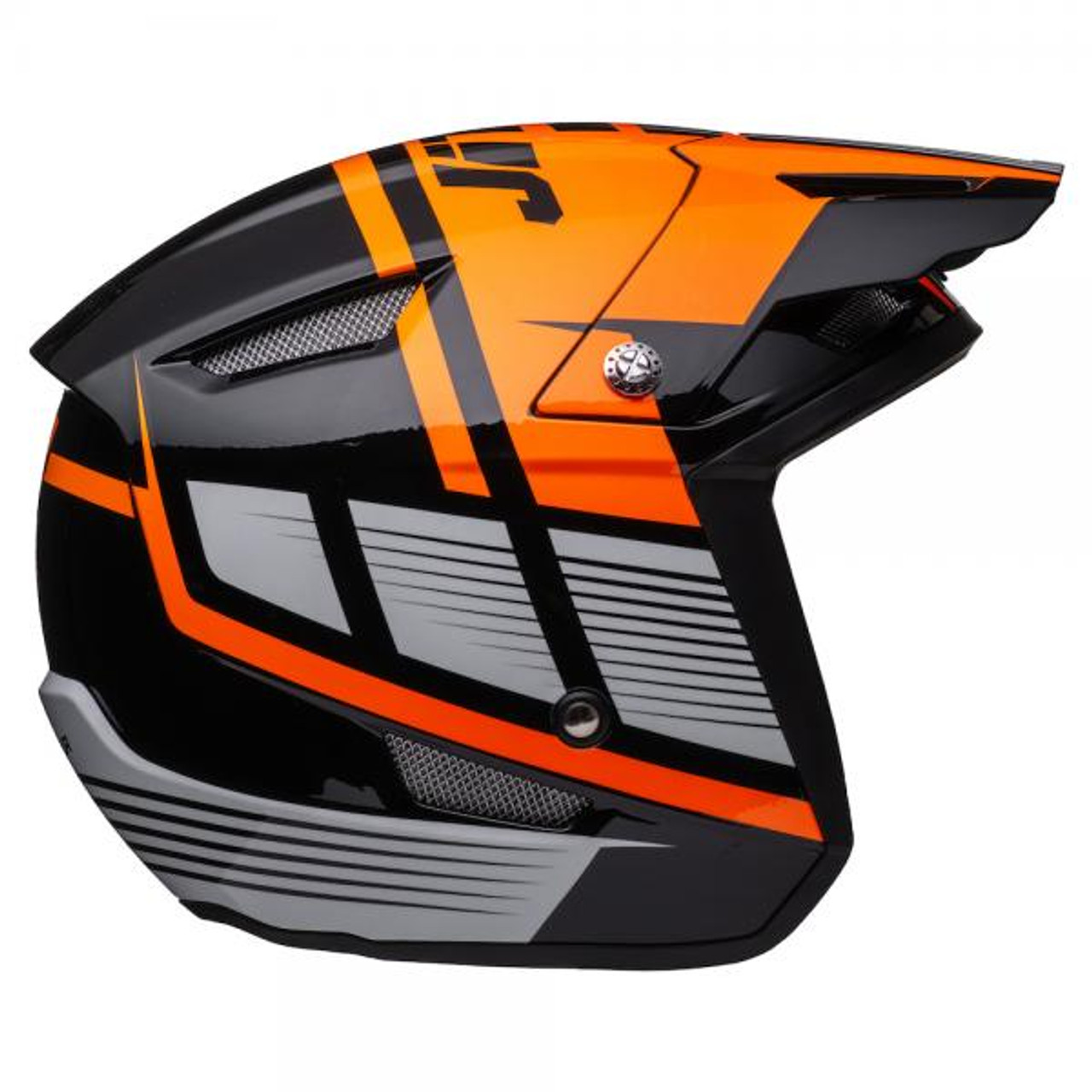 Helmet HT1 Struktur, black/ fluo orange
