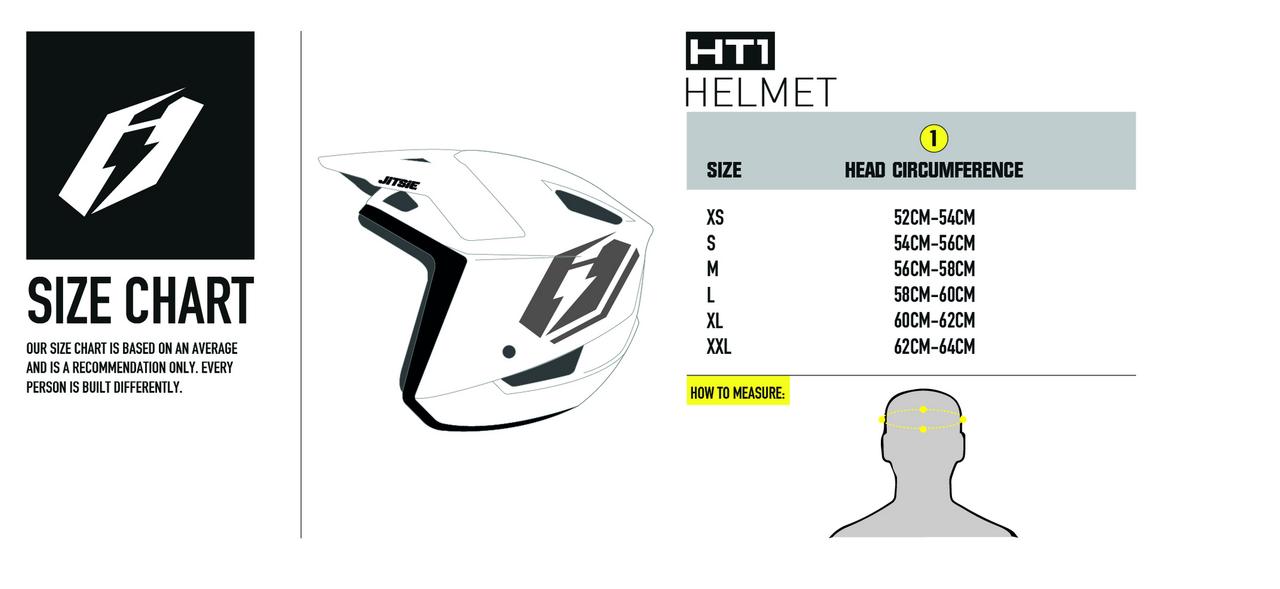 Helmet HT1 Struktur size chart