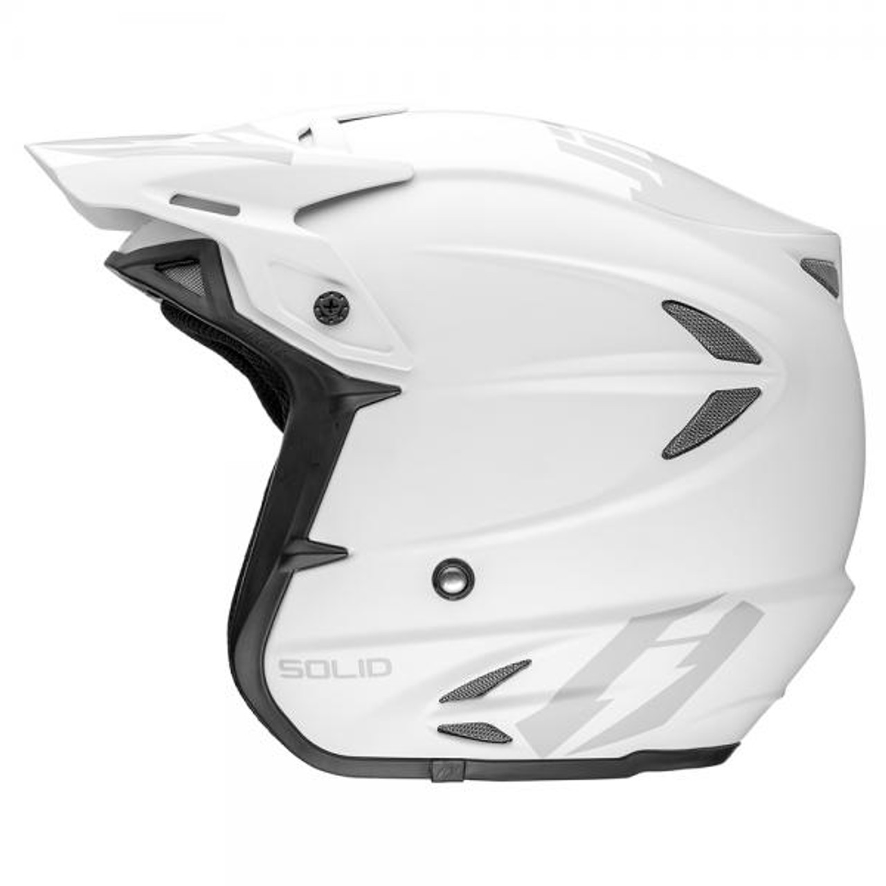 HT2 Solid helmet by Jitsie, matt white/ grey, fiberglass