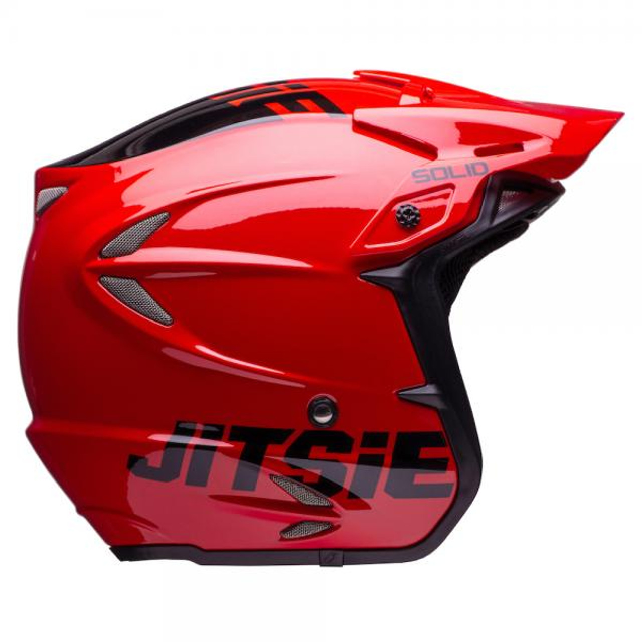 HT2 Solid helmet by Jitsie, red/ black, fiberglass
