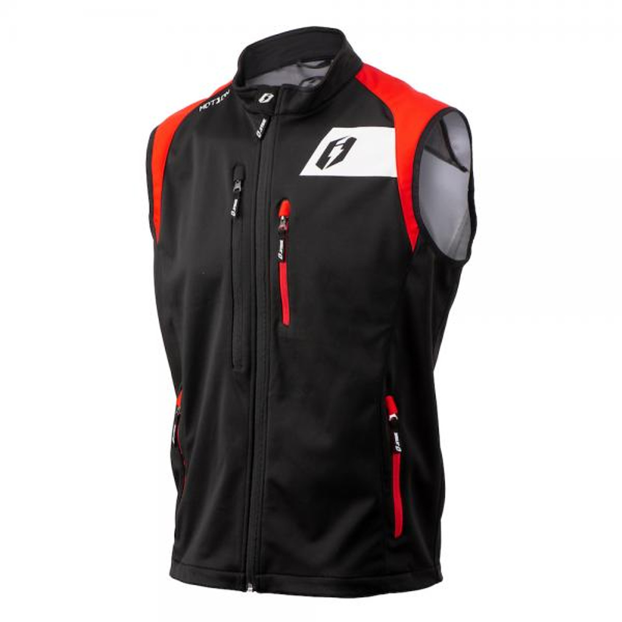 Jitsie Motion gilet vest jacket cold weather jacket for trials in water repellent and breathable fabrics.