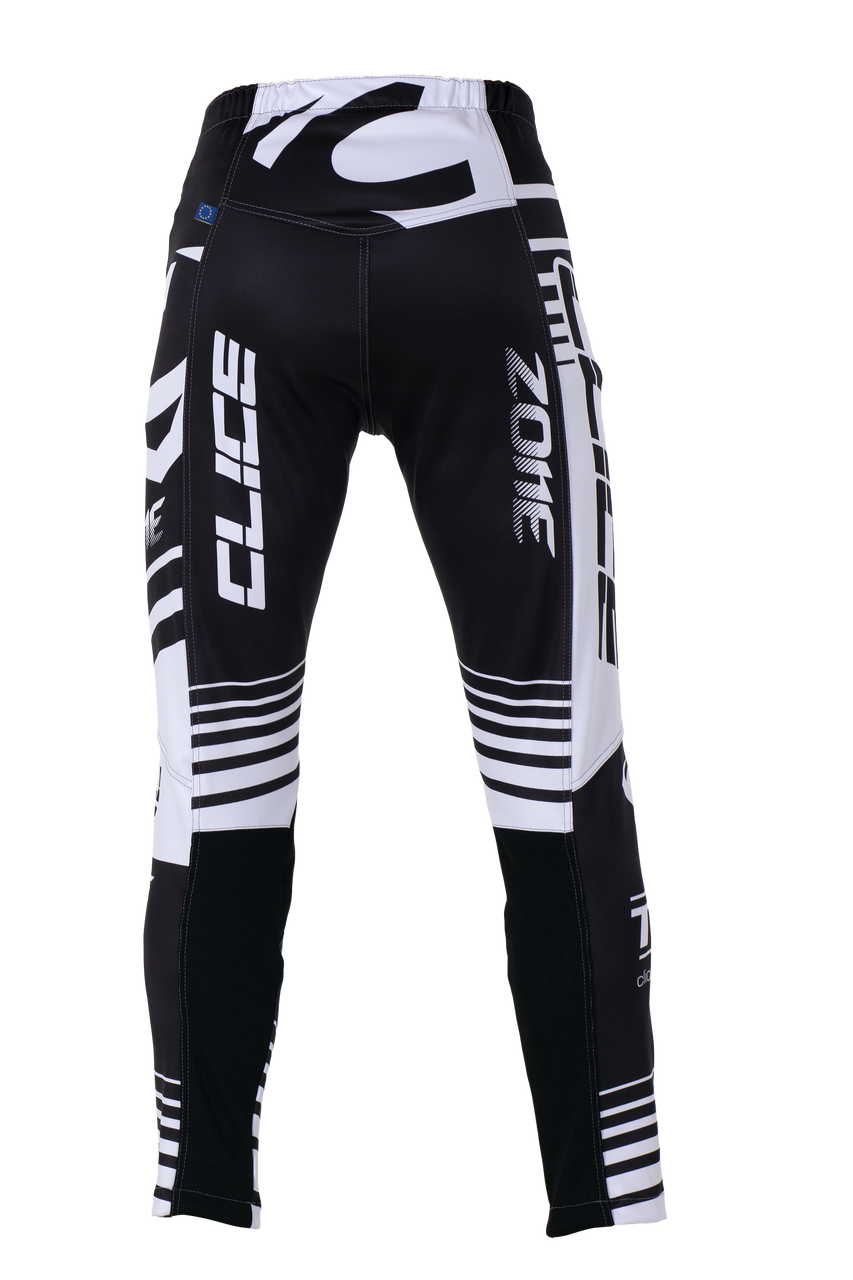 2019 Clice men's Zone trial pants, white/black
