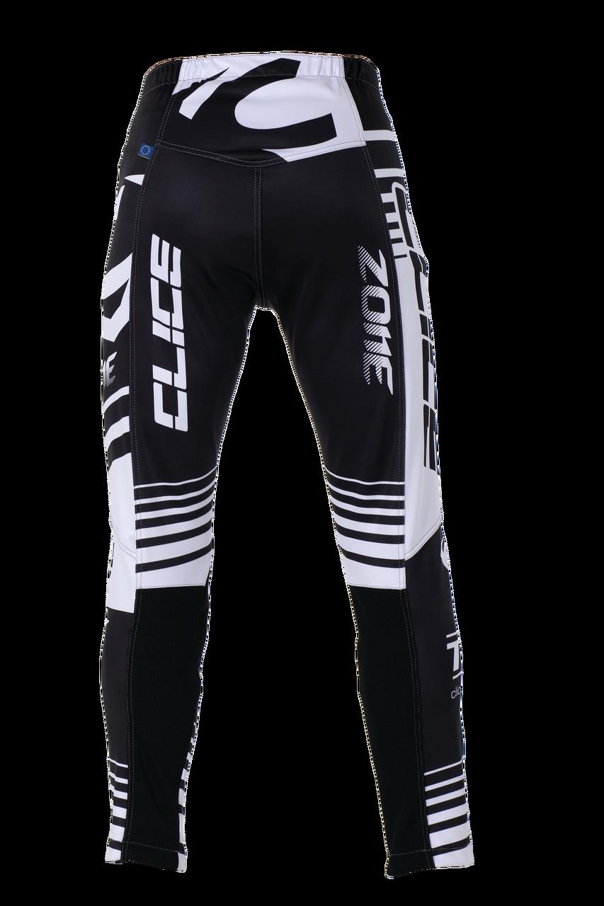 2019 Clice men's Zone trial pants, white/black
